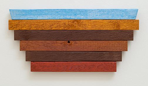 Joseph Egan / earth and sky (Nr. 1)2013 23 x 47 x 3 cmoil paints on wood