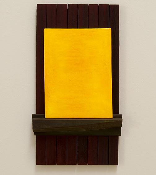 Joseph Egan / Trio  2017  60 x 33 x 6.5 cm painted wood and painted panel