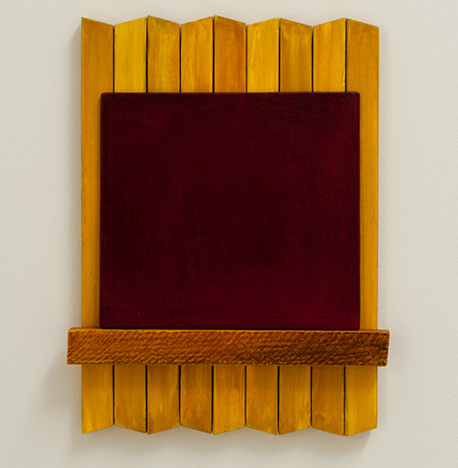 Joseph Egan / heart to heart  2017  49 x 37.5 x 5 cm painted wood and painted panel