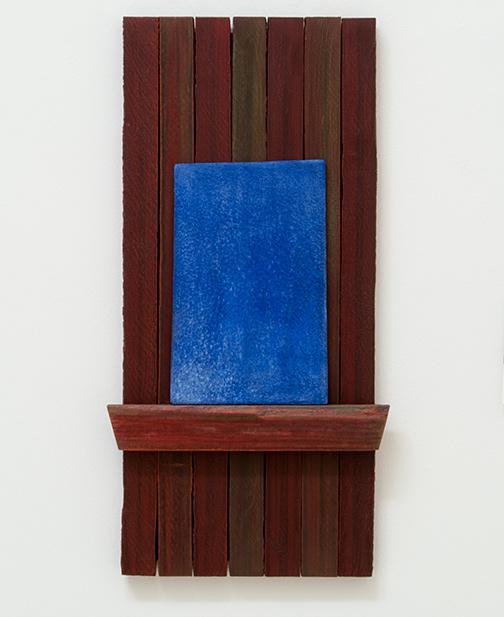 Joseph Egan / Skylight  2017  60 x 30 x 5 cm painted wood and painted panel