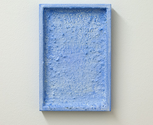 Joseph Egan / echo  2017  30 x 20 x 3 cm various paints, sand and stones on wood