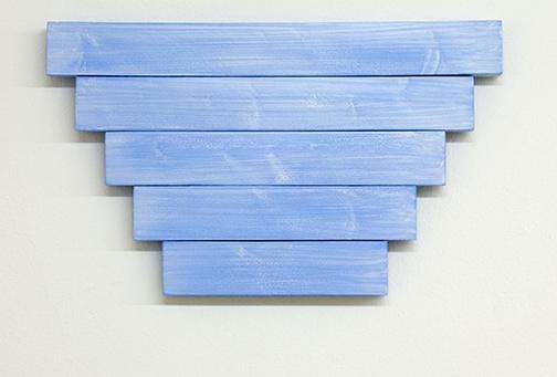Joseph Egan / paean  2017  39.5 x 23.5 x 2.5 cm various paints on wood