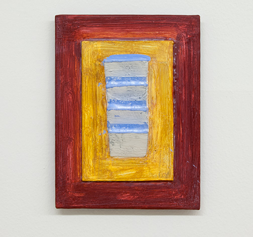 Joseph Egan / painted place  2017  24 x 18 x 4 cm various paints, sand and wood on canvasboard