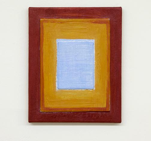Joseph Egan / Turn  2017  30 x 24 x 2 cm various paints, sand and wood on canvas