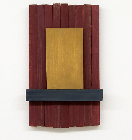 Joseph Egan / silencio  2012  37 x 22 x 5 cm painted wood and painted panel