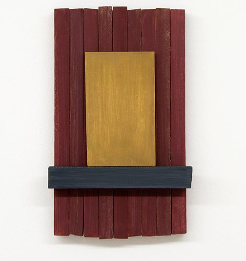 Joseph Egan / silencio  2012  37 x 22 x 5 cm painted wood and painted panel