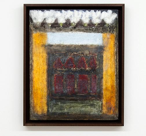 Joseph Egan / Dovecote  2014  38.5 x 31.5 x 3 cm various paints on canvas with framing