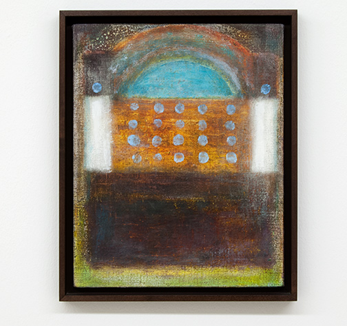 Joseph Egan / Old Ways  2014  38.5 x 31.5 x 3 cm various paints on canvas with framing