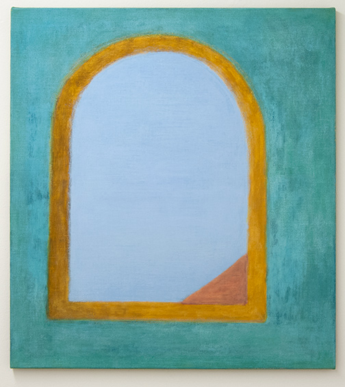 Joseph Egan / Outlook  2017  90 x 80 x 2.5 cm various paints on canvas