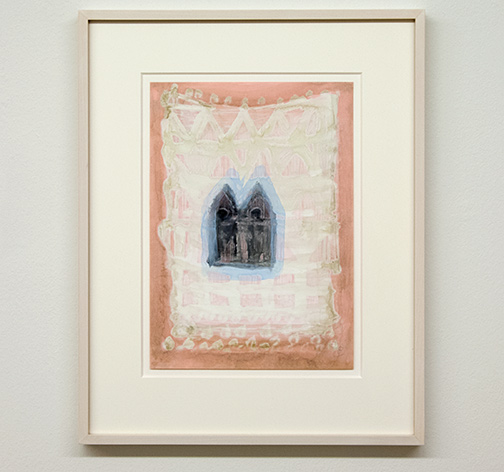 Joseph Egan / Local Color (on Hydra) Nr. 5  2014  45 x 35.5 x 2.5 cm oil paint on paper with framing