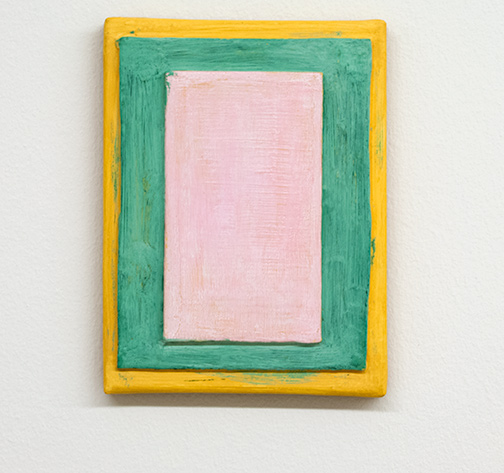 Joseph Egan / Guarda  2017  24 x 18 x 3 cm various paints, sand and wood on canvas