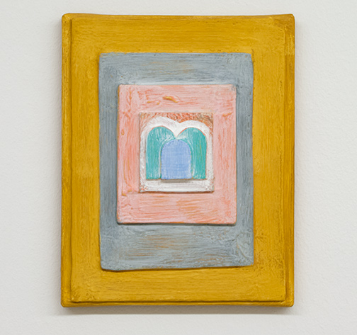 Joseph Egan / child  2017  30 x 24 x 4 cm various paints, sand and wood on canvas