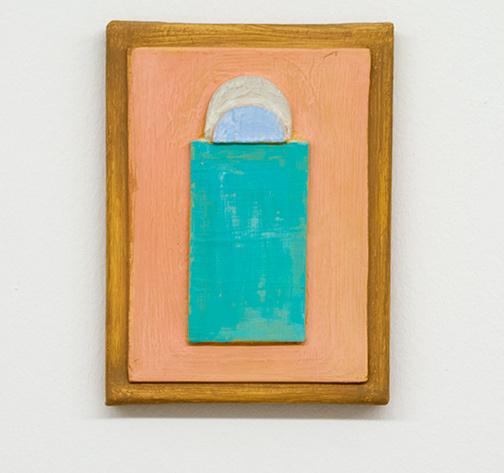 Joseph Egan / resonance  2017  24 x 18 x 3 cm various paints, sand and wood on canvas