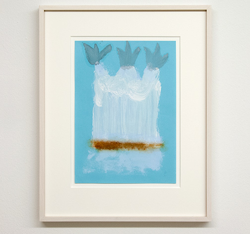 Joseph Egan / Local Color (on Hydra) Nr. 3  2014  45 x 35.5 x 2.5 cm oil paint on paper with framing