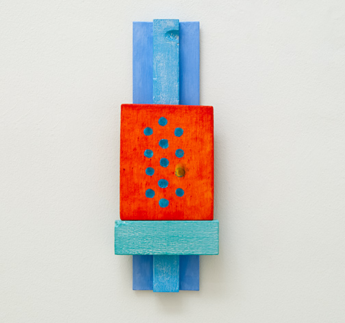 Joseph Egan / the traveling kind  2015  40 x 15 x 5 cm painted wood and painted panel
