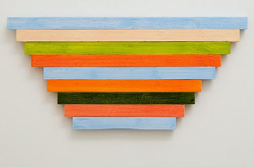 Joseph Egan / out of the blue (Nr. 2)  2015  33 x 70 x 2.5 cm oil paint on wood