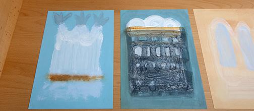 Joseph Egan / on Hydra (Nr. 39)  2014  30 x 21 cm Oil paints on paper on Hydra (Nr. 24)  2014  30 x 21 cm Oil paints on paper
