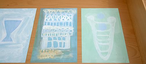 Joseph Egan / on Hydra (Nr. 23)  2014  30 x 21 cm Oil paints on paper on Hydra (Nr. 26)  2014  30 x 21 cm Oil paints on paper