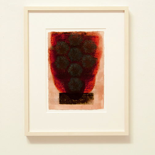 Joseph Egan / in wine (Nr. 2)  2013  49 x 39 x 3 cm Paper: 30 x 21 cm Oil paints on paper with framing