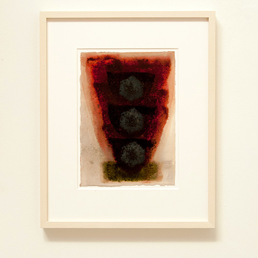 Joseph Egan / in wine (Nr. 3)  2013  49 x 39 x 3 cm Paper: 30 x 21 cm Oil paints on paper with framing