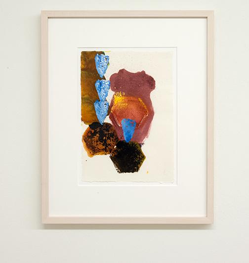 Joseph Egan / colorcomb (Nr. 48)  2014  49 x 39 x 3 cm Paper: 30 x 21 cm Oil paints on paper with framing