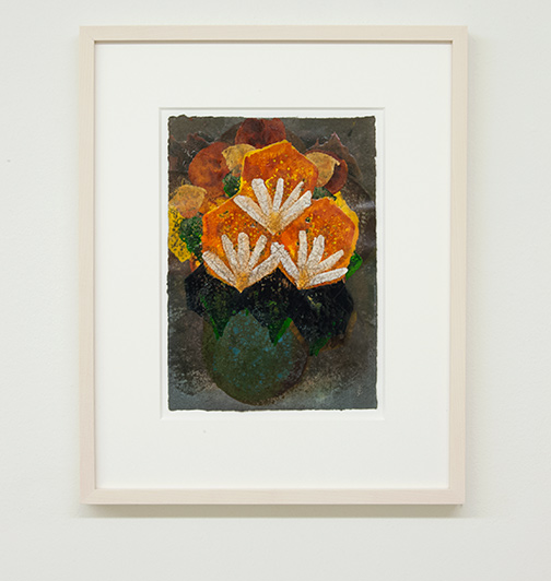 Joseph Egan / colorcomb (Nr. 42)  2014  49 x 39 x 3 cm Paper: 30 x 21 cm Oil paints on paper with framing
