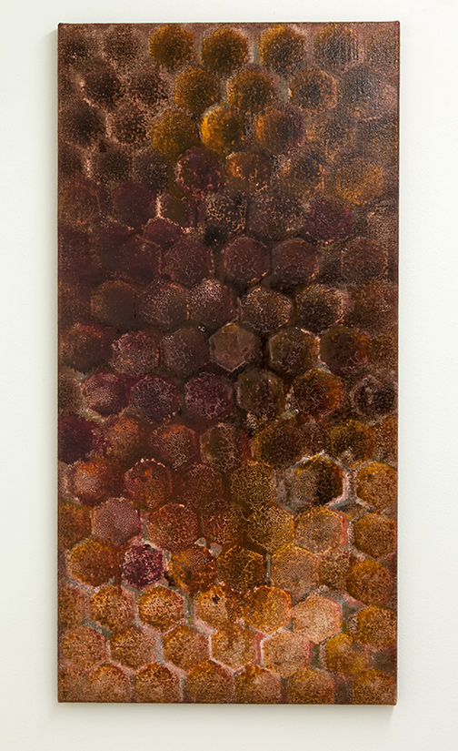 Joseph Egan / inner space  2013  100 x 50 x 2.5 cm Oil paints on canvas