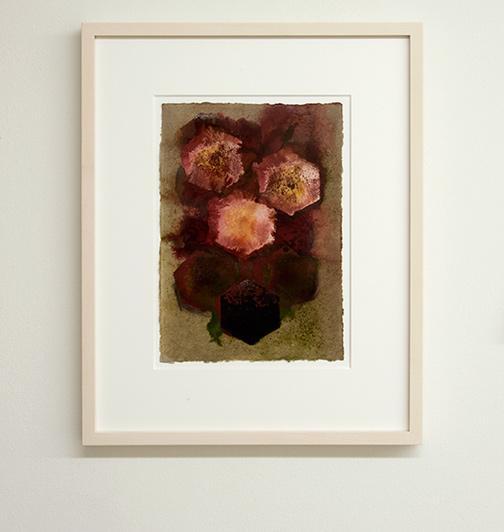 Joseph Egan / colorcomb (Nr. 49)  2014  49 x 39 x 3 cm Paper: 30 x 21 cm Oil paints on paper with framing