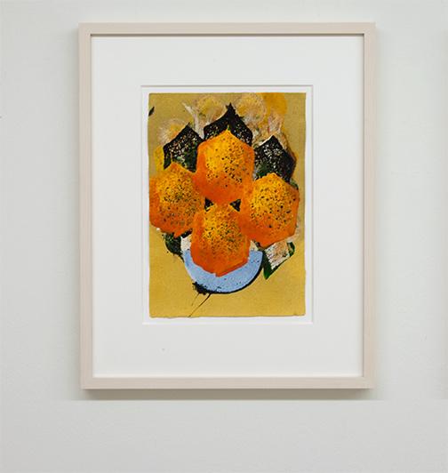 Joseph Egan / colorcomb (Nr. 37)  2014  49 x 39 x 3 cm Paper: 30 x 21 cm Oil paints on paper with framing