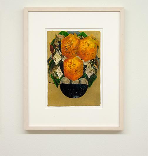 Joseph Egan / colorcomb (Nr. 46)  2014  49 x 39 x 3 cm Paper: 30 x 21 cm Oil paints on paper with framing