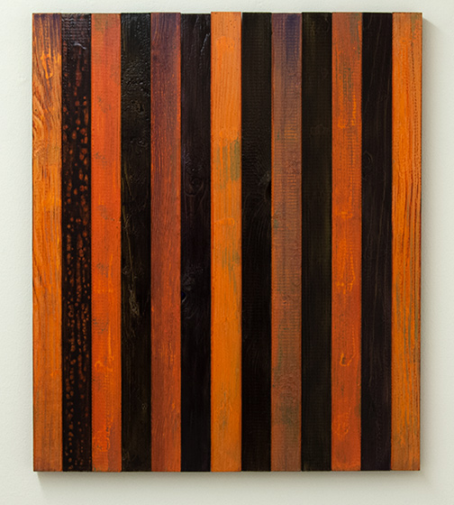 Joseph Egan / Fire  2000  65 x 55.5 x 2.5 cm Oil paints on wood