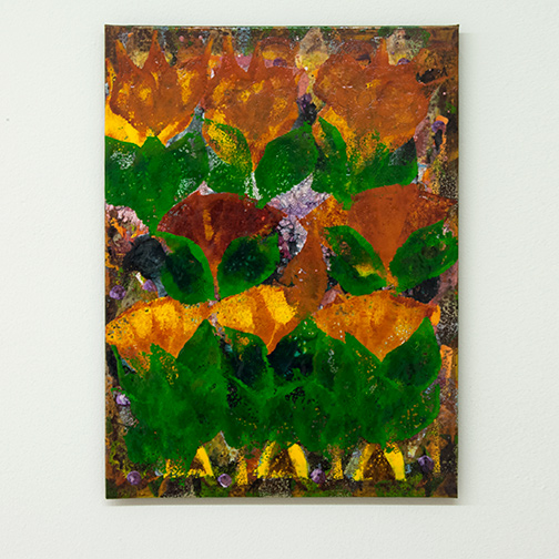 Joseph Egan / colorcomb (Nr. 85)  2014  40 x 30 x 1.5 cm Oil paints on canvasboard