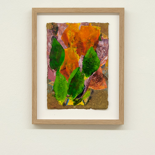 Joseph Egan / colorcomb (Nr. 61)  2014  28.5 x 22.5 x 2.5 cm Paper: 21 x 14.5 cm Oil paints on paper with framing