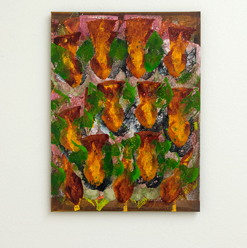 Joseph Egan / colorcomb (Nr. 86)  2014  40 x 30 x 1.5 cm Oil paints on canvasboard