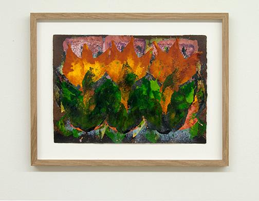 Joseph Egan / colorcomb (Nr. 64)  2014  29.5 x 38.5 x 2.5 cm Paper: 21 x 30 cm Oil paints on paper with framing