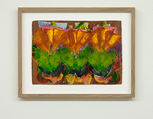 Joseph Egan / colorcomb (Nr. 65)  2014  29.5 x 38.5 x 2.5 cm Paper: 21 x 30 cm Oil paints on paper with framing