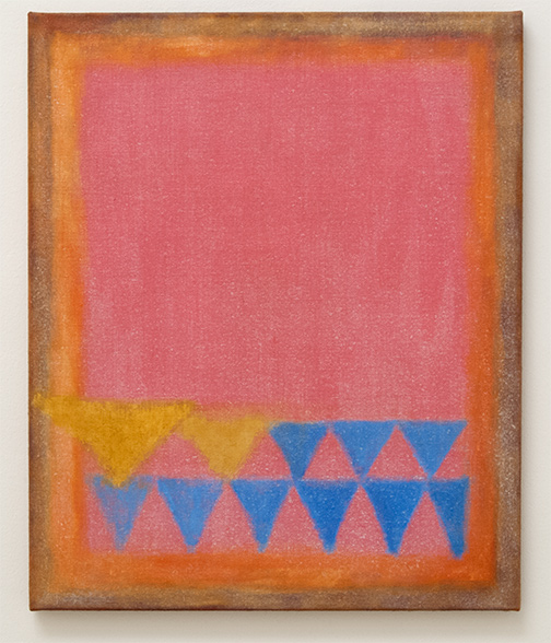 Joseph Egan / in addition  2014  73 x 60 x 2.5 cm Various paints on canvas