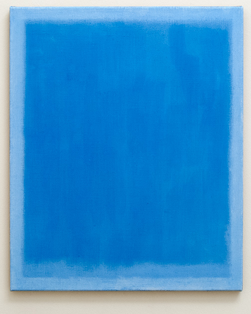 Joseph Egan / on the radio  2014  73 x 60 x 2.5 cm Various paints on canvas
