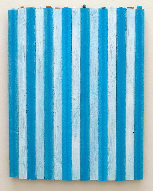 Joseph Egan / pool  1992  90 x 70 x 3.5 cm Oil paints and sand on wood with free elements