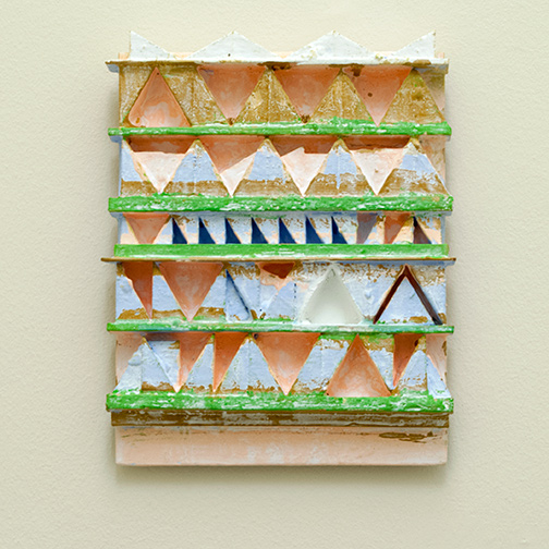 Joseph Egan / paintcote (Nr. 4)  2014  31 x 25 x 4 cm Various paints on wood