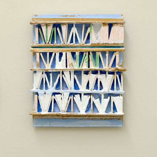 Joseph Egan / paintcote (Nr. 5)  2014  30 x 25 x 5 cm Various paints on wood