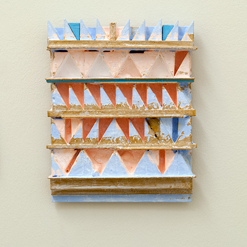 Joseph Egan / paintcote (Nr. 3)  2014  31 x 25 x 5 cm Various paints on wood