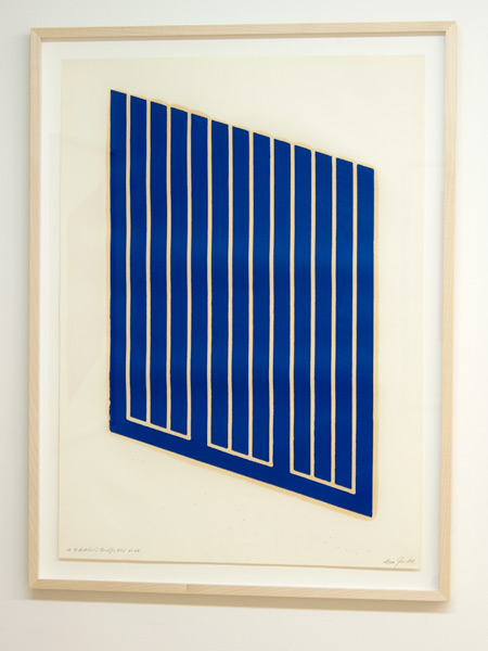 Donald Judd / Donald Judd Untitled (12-R)  1961-69 woodcut in cerulean blue on cartridge paper 77.5 x 55.9 cm