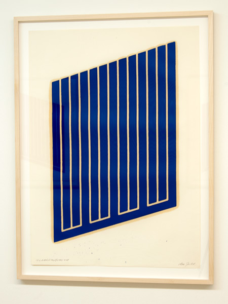 Donald Judd / Donald Judd Untitled (13-L)  1961-69 woodcut in cerulean blue on cartridge paper 77.5 x 55.9 cm