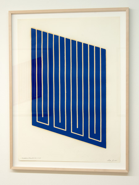 Donald Judd / Donald Judd Untitled (1-R)  1961-69 woodcut in cerulean blue on cartridge paper 77.5 x 55.9 cm
