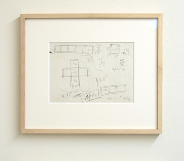 Sol LeWitt / Sol LeWitt Working Drawing for Grid Sculpture  1966 15 x 26 cm pencil on paper (recto/verso)