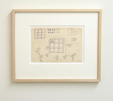 Sol LeWitt / Sol LeWitt Working Drawing  1966 14.5 x 21 cm ball-point pen on paper