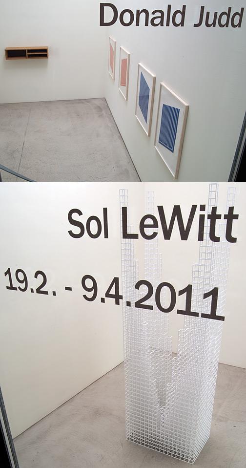 Donald Judd,  Sol LeWitt, Donald Judd / Sol LeWitt