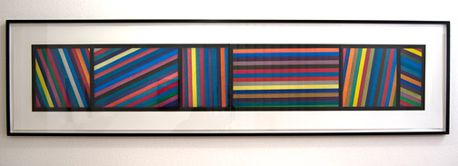 Sol LeWitt / Sol LeWitt Bands of Lines in Different Directions  1996 50.8 x 210.8 cm colored aquatint in two parts ed. 24/36