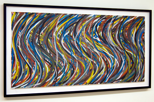 "Sol LeWitt / Sol LeWitt Wavy Vertical Brushstrokes  1995 77.7 x 153.7 cm / 32.3 x 60.5 "" gouache on paper"